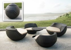 rattan patio furniture the urban backyard rh theurbanbackyard com Small Patio Chairs Small Balcony Table