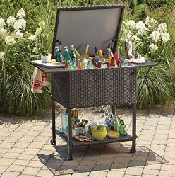 Wicker Cooler Cart