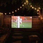 DIY Backyard Movie Night