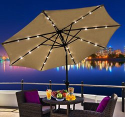 ... Patio Umbrella Solar Lights
