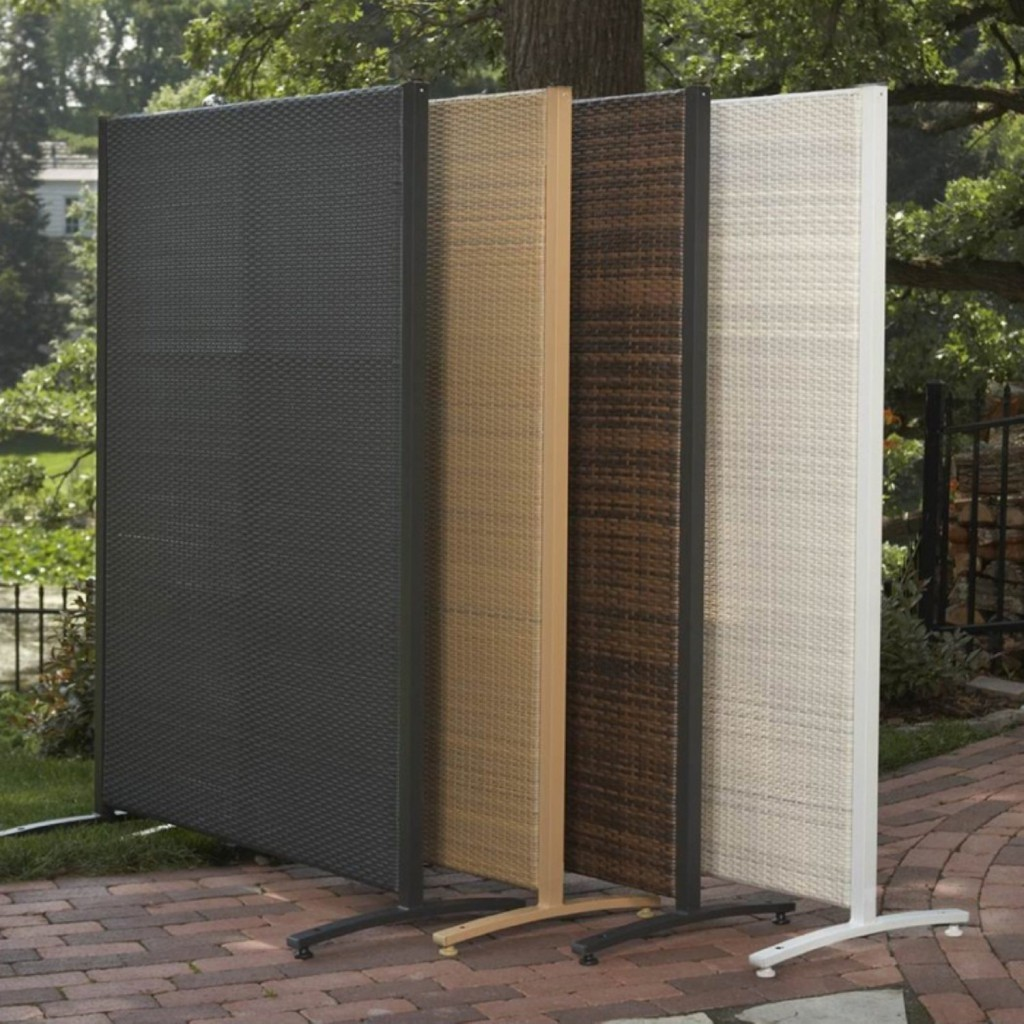 Resin outdoor privacy screen panels the urban backyard for Deck privacy screen panels