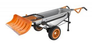 Worx Aerocart Multifunction Wheelbarrow Snow Plow