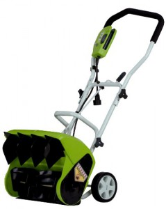green works 16 electric snow thrower