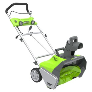 green works 20 electric snow thrower